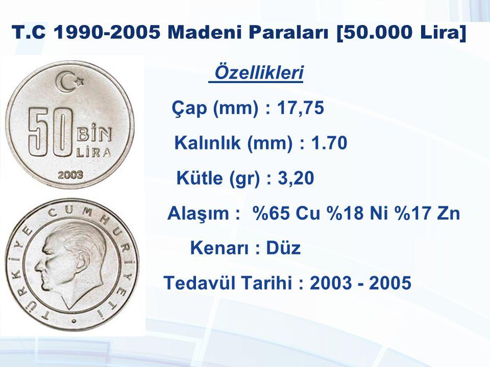 T.C 1990-2005 Madeni Paraları [50.000 Lira]